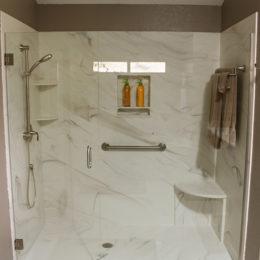 Complete Bathroom Remodel complete bathroom remodel - jettastone solid surface