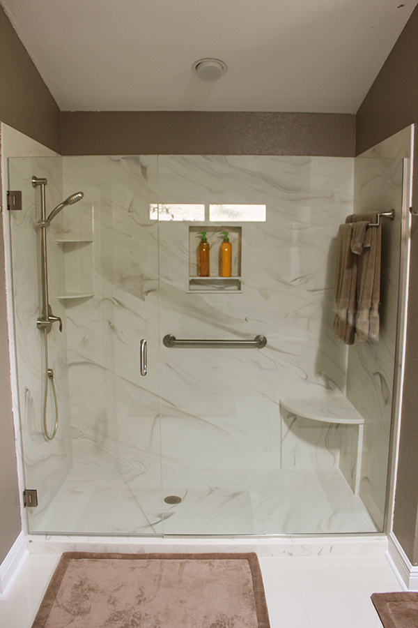 Complete bathroom remodel jettastone solid surface for Complete bathroom remodel