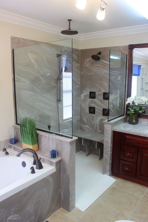 Newly Remodeled Bathroom - JettaStone Solid Surface